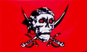 Billede af Red Skull - Pirat Flag (90x150cm)