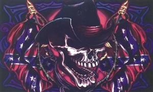 Image of   Skull Cowboy Flag (90x150cm)