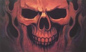 Image of   Skull Ghost Flag (90x150cm)