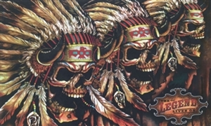 Image of   Skull Indian Flag (90x150cm)