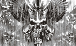 Image of   Skull with Sword Flag (90x150cm)