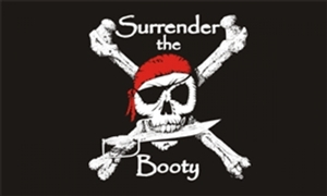 Image of   Surrender the Booty - Pirat Flag (90x150cm)