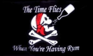 Image of   Time Flies When You Have Rum - Pirat Flag (90x150cm)
