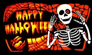 Image of   Halloween Bones Flag (90x150cm)