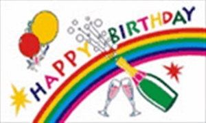 Image of   Happy Birthday Flag (90x150cm)