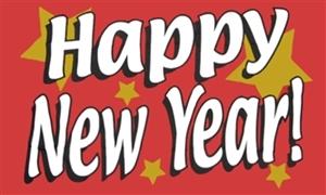 Image of   Happy New Year Flag (90x150cm)