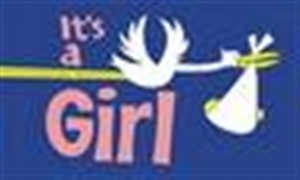 Image of   Its a Girl Flag (90x150cm)