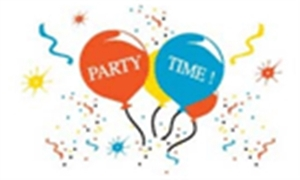 Image of   Party Time Flag (90x150cm)