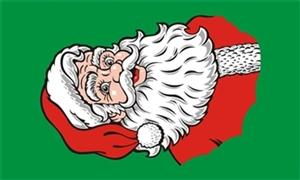Image of   Santa Face Flag (90x150cm)