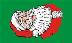 Image of   Santa Face Flag (90x150cm)
