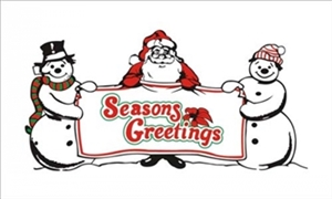 Image of   Seasons Greetings Flag (90x150cm)
