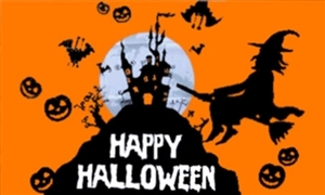 Image of   Halloween Orange Flag (90x150cm)