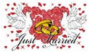 Image of   Just Married Flag (90x150cm)