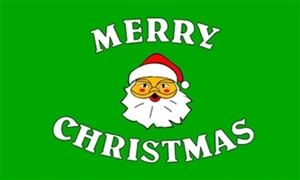 Image of   Merry Christmas Green Flag (90x150cm)