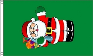 Image of   Santa with Gifts Flag (90x150cm)