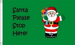 Image of   Santa Stop Here Flag (90x150cm)