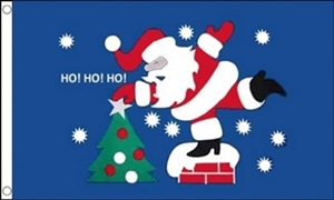 Image of   Christmas HO HO HO Flag (90x150cm)