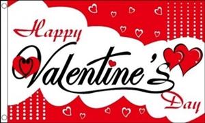 Image of   Happy Valentines Day Flag (90x150cm)