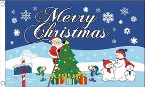 Image of   Christmas North Pole Flag (90x150cm)