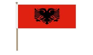 Image of   Albanien Håndflag (30x45cm)