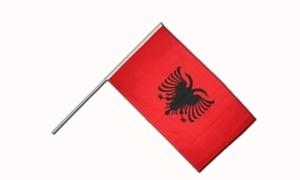Image of Albanien Håndholdt Papirflag (20x27cm)
