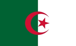 Image of   Algeriet Satin Flag (15x22cm)