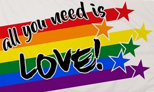 Image of All You Need Is Love Flag (90x150cm)