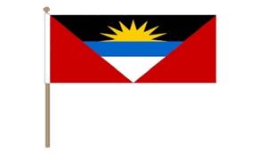 Image of   Antigua og Barbuda Håndflag (30x45cm)