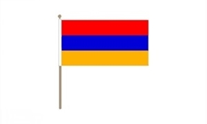Image of   Armenien Håndflag (30x45cm)