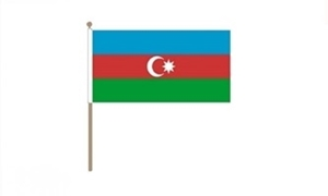 Image of   Aserbajdsjan Håndflag (30x45cm)