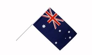 Image of   Australien Håndholdt Papirflag (20x27cm)