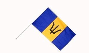 Image of   Barbados Håndflag (15x22cm)