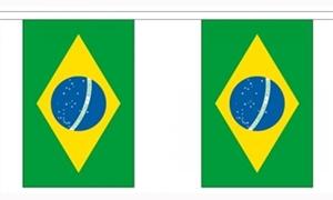 Image of   Brasilien Guirlander 9m (30 flag)