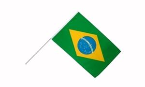 Image of   Brasilien Håndflag (15x22cm)