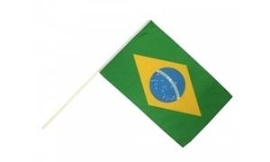 Image of   Brasilien Håndholdt Papirflag (20x27cm)