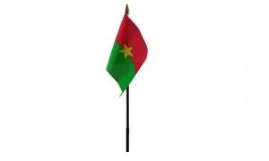 Image of   Burkina Faso Håndflag (10x15cm)
