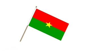 Image of   Burkina Faso Håndflag (15x22cm)