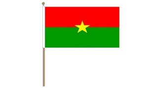 Image of   Burkina Faso Håndflag (30x45cm)