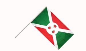 Image of   Burundi Håndflag (15x22cm)