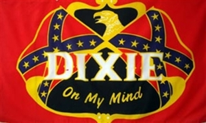 Image of   Dixie On My Mind Flag (90x150cm)