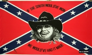 Image of   Rebel Hank Williams Flag (90x150cm)