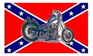 Image of   Rebel Motorcycle Flag (90x150cm)