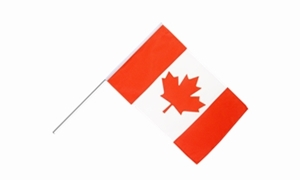 Image of   Canada Håndflag (15x22cm)