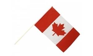 Image of   Canada Håndholdt Papirflag (20x27cm)