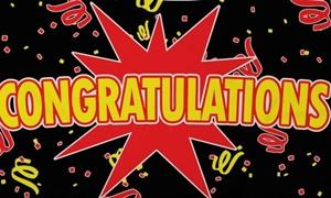 Image of   Congratulations Black Flag (90x150cm)
