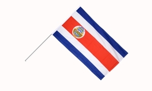 Image of   Costa Rica Håndflag (15x22cm)