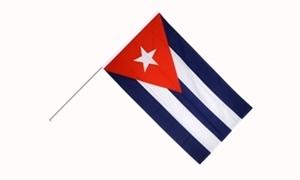 Image of   Cuba Håndholdt Papirflag (20x27cm)