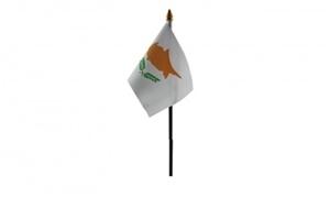Image of   Cypern Håndflag (10x15cm)