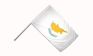 Image of   Cypern Håndflag (15x22cm)
