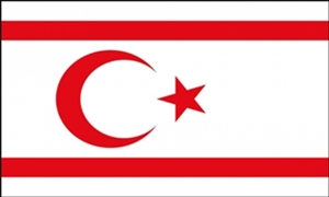 Image of   Cypern Nord Flag (90x150cm)